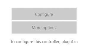To Configure Plug Your Controller In